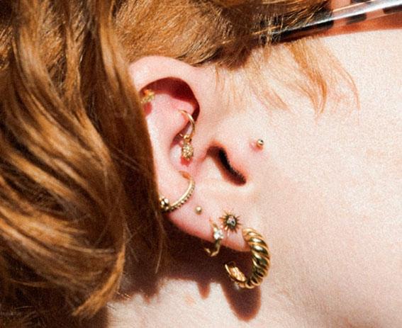 curated ears piercing